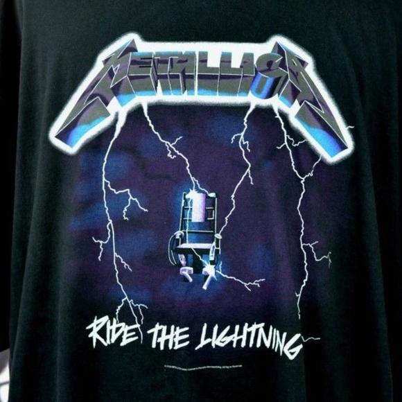 756a3fbf Bravado Shirts | Metallica Ride The Lightning Tshirt Black 6xl ...